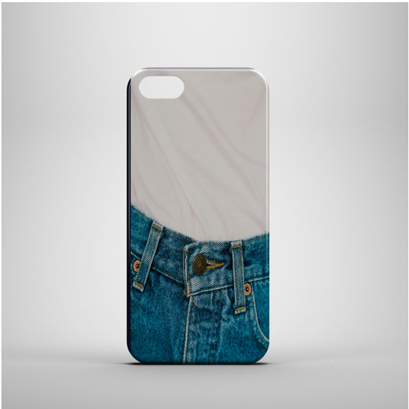 Funda para celular jeans azul
