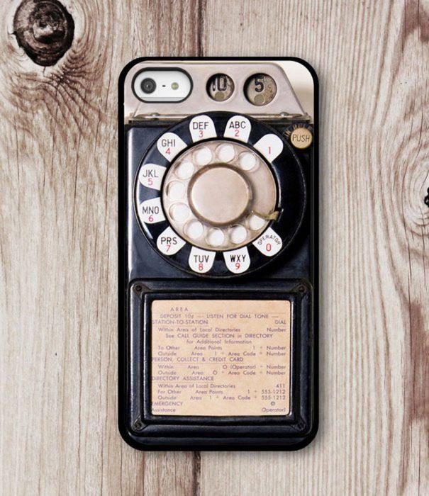 Funda para celular teléfono vintage