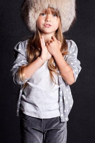 Kristina Pimenova una super modelo de 9 años