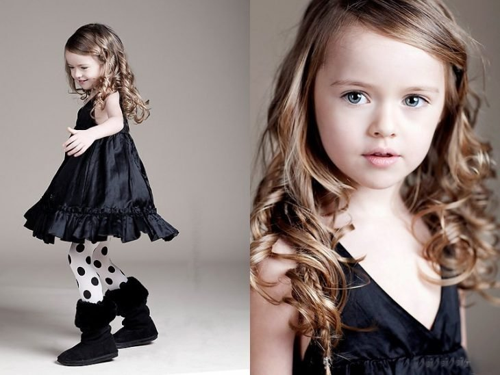 Kristina Pimenova , la niña mas hermosa del mundo de pequeña