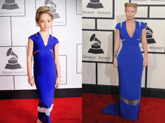 Niños imitan celebridades en los grammys