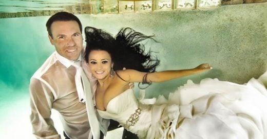 Fotografías de boda bajo el agua ¿Te atreverías?