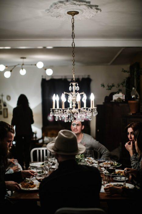 Foto de una cena familiar