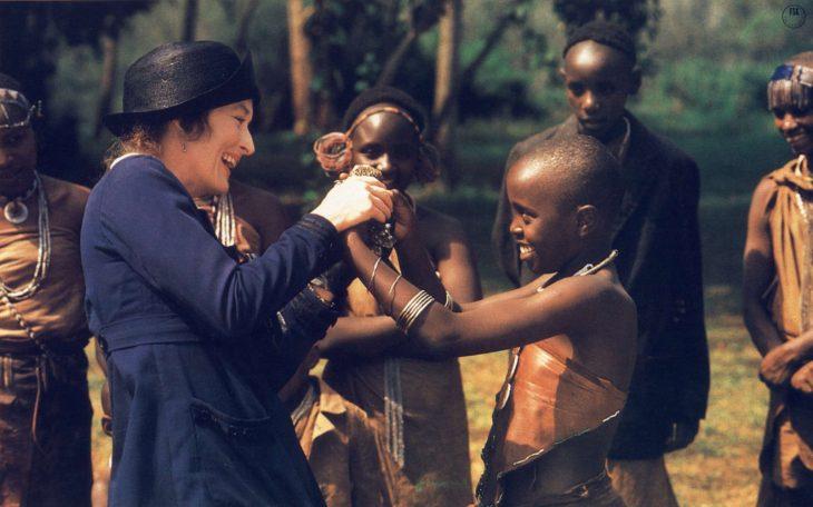 Escena de la película memorias de africa