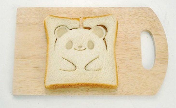 Sellos para pan tostado en forma de oso