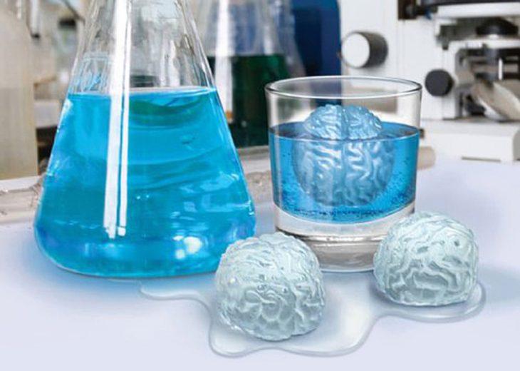 Cubos de hielo en forma de cerebro