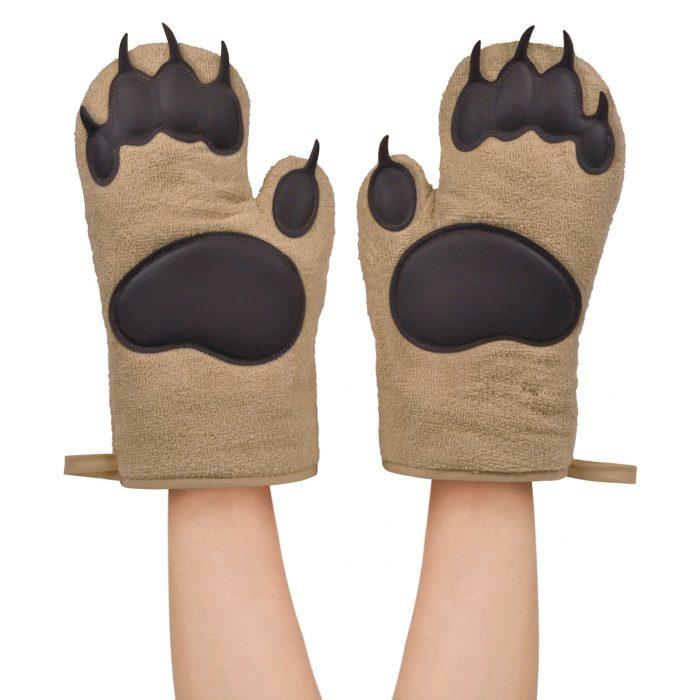 guantes para cocina en forma de garras de osos