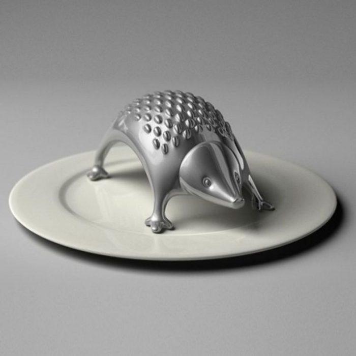 Rallador de queso en forma de erizo