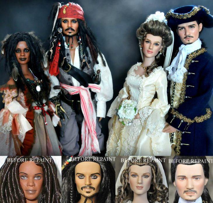 muñecos de la película piratas del caribe