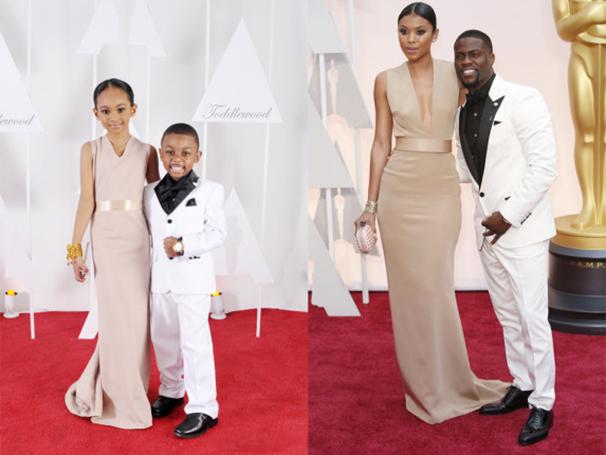 niños parados y vestidos de la misma manera que la pareja del lado derecho