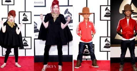 Niños imitan a famosos en los Grammys 2015 ¡Son tan tiernos!