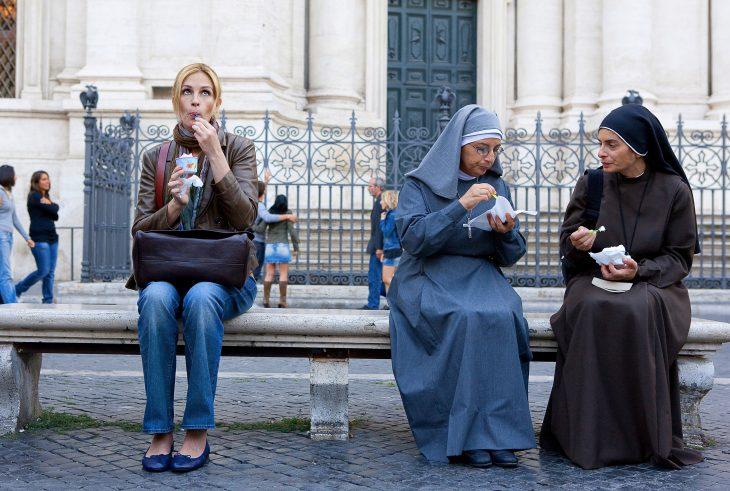 """Escena de la película """"Comer, rezar, amar"""""""