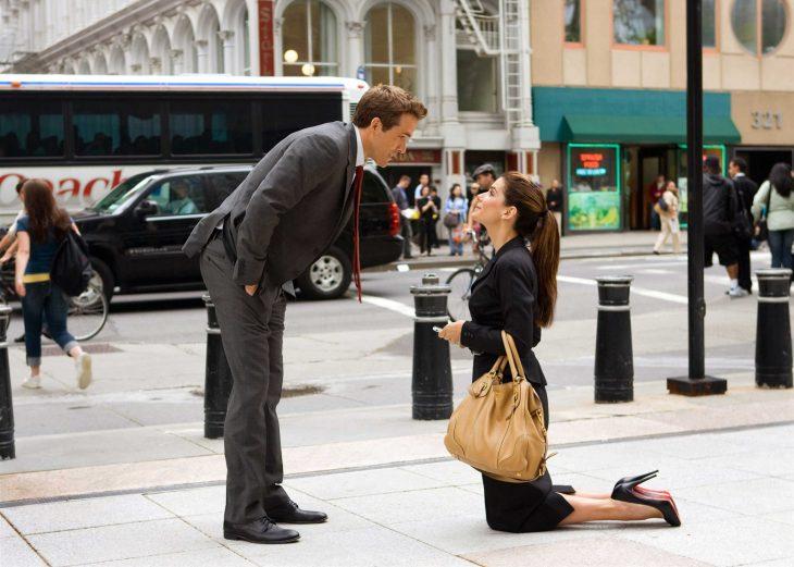 """Escena de la película """"La propuesta"""""""