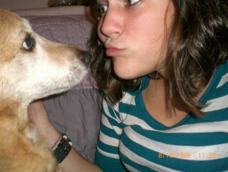 Selfie dueña y perro