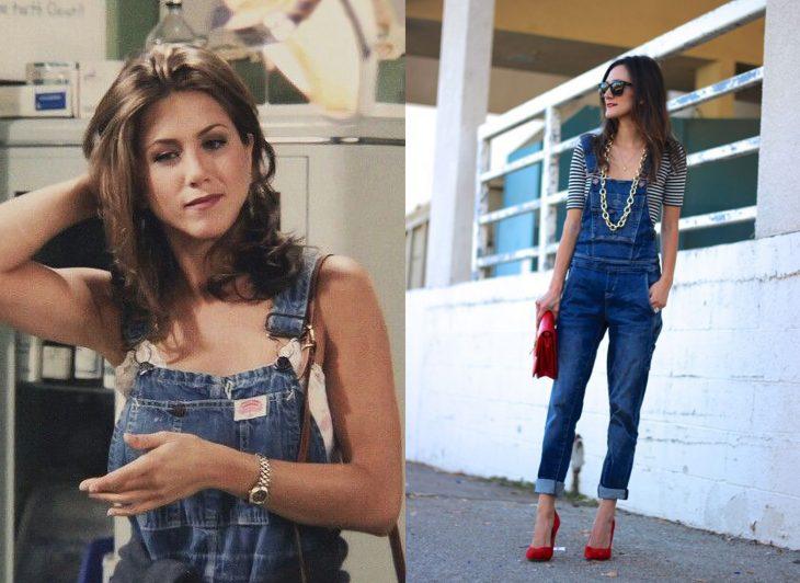 comparación de dos mujeres usando overoles