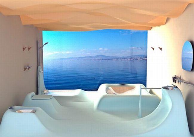 baño que parecen olas de mar