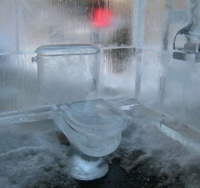 baño hecho con hielo