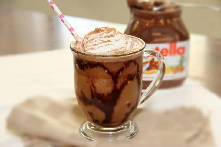 café hecho con nutella