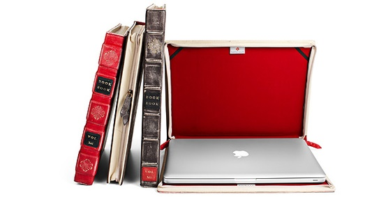 funda para laptop en forma de libro