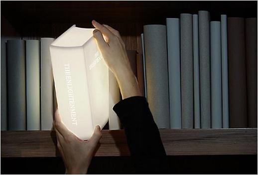 lampara para librero