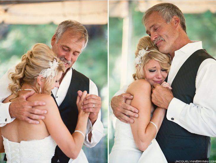 padre e hija bailando el día de su boda