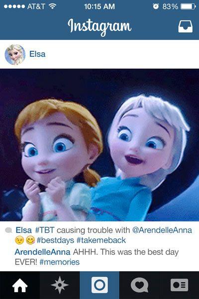 Escena de la película Frozen donde aparecen las hermanas
