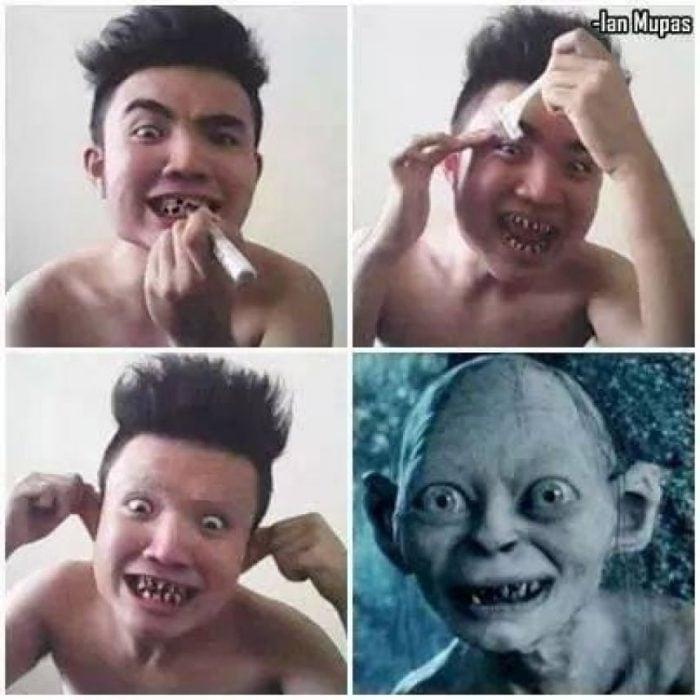 #makeuptransformation Gollum