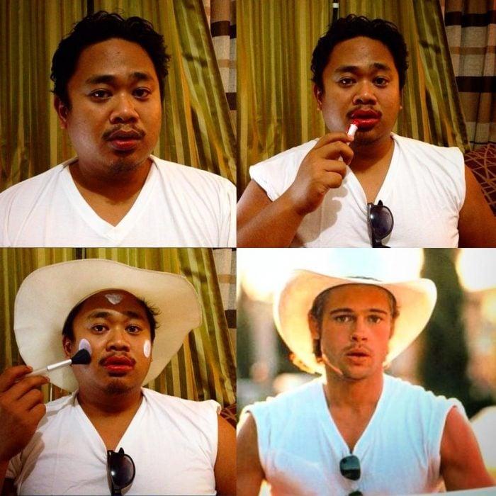#makeuptransformation Brad Pitt