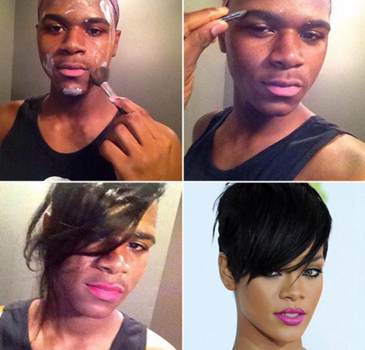 #makeuptransformation Rihanna
