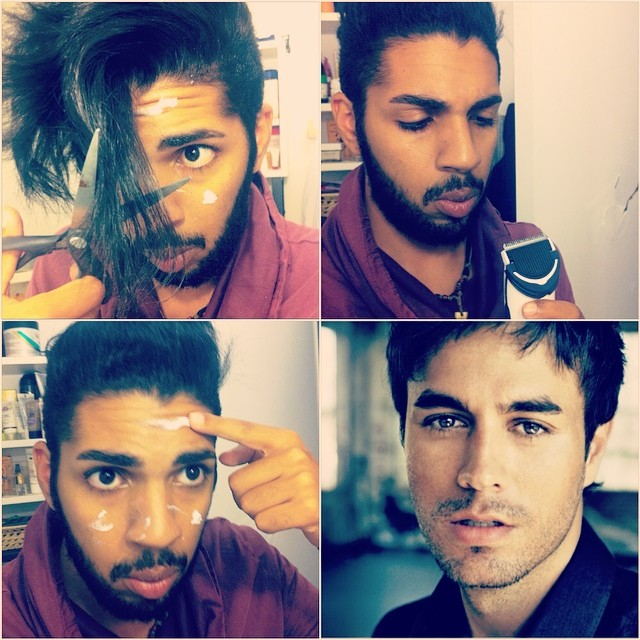 #makeuptransformation Enrique Iglesias