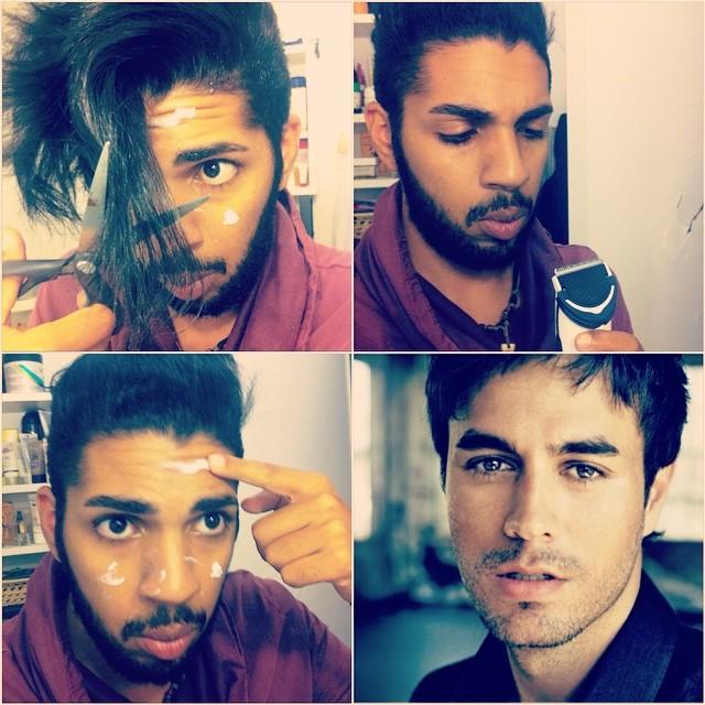 #makeuptransformation Enrique Iglesias