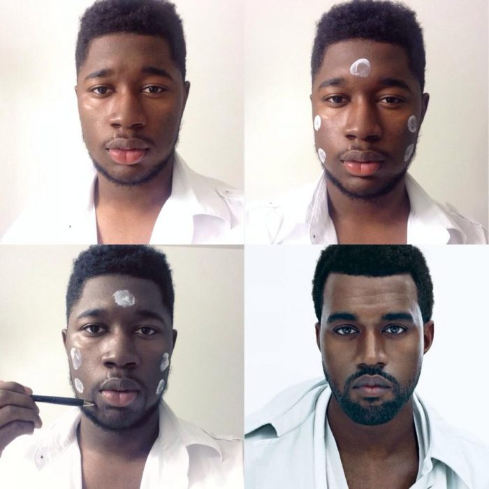 #makeuptransformation Kanye West