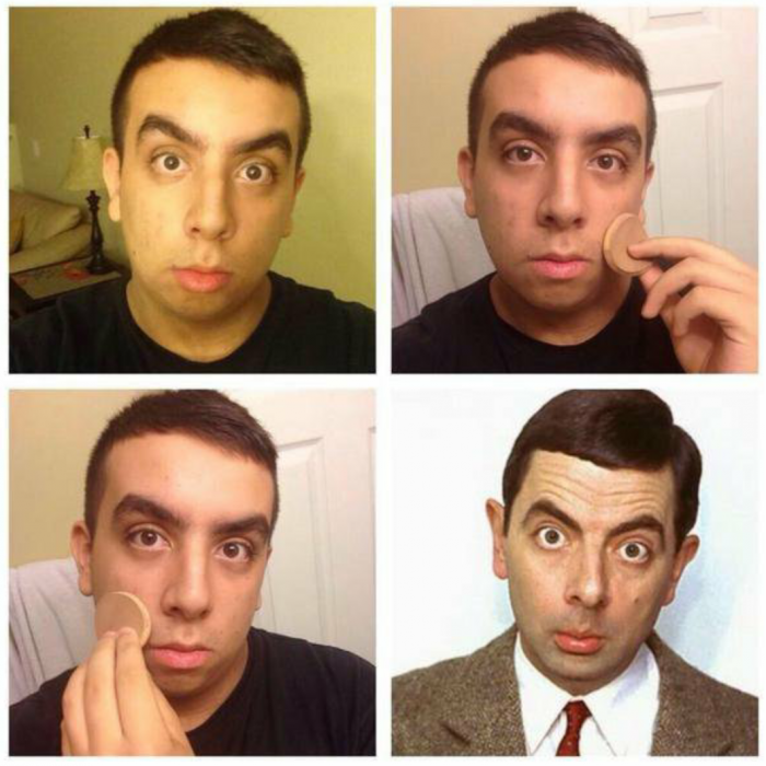 #makeuptransformation Mr. Bean