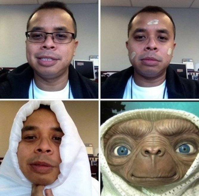 #makeuptransformation E.T.