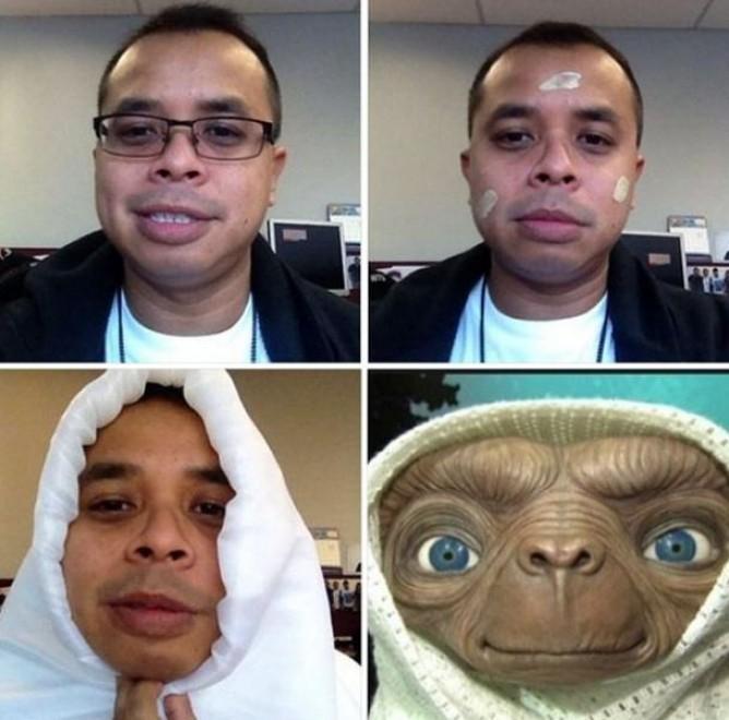 #makeuptransformation E.T.
