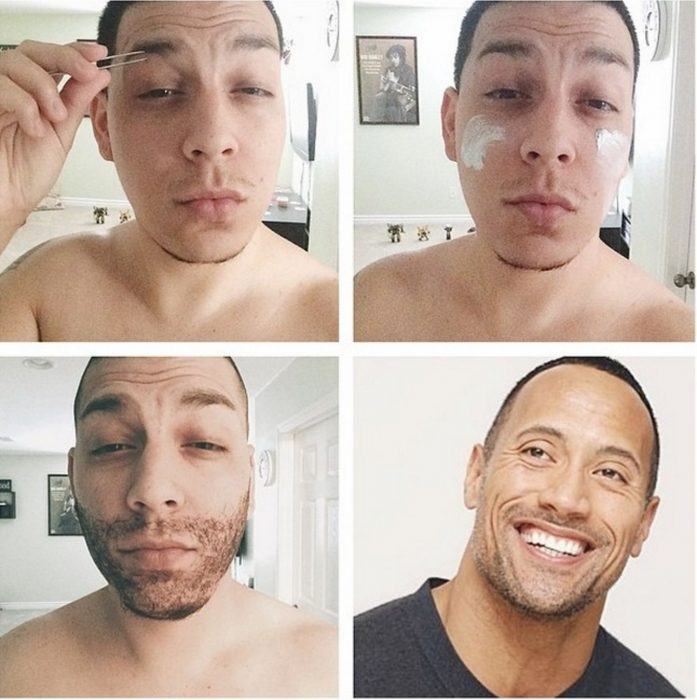 #makeuptransformation La roca