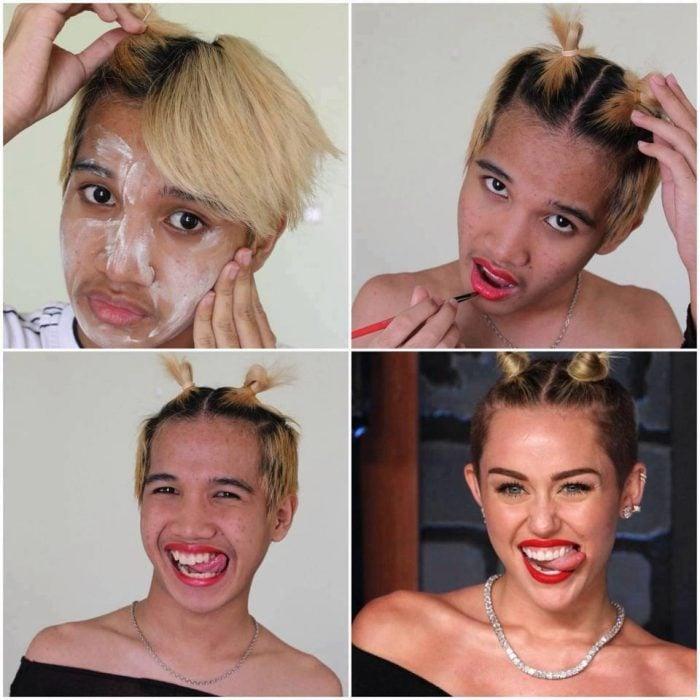 #makeuptransformation Miley Cyrus