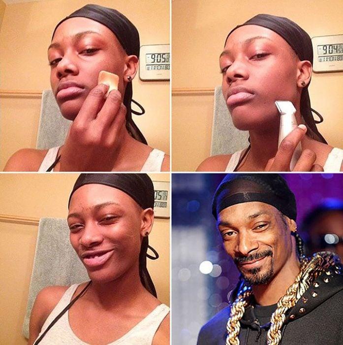 #makeuptransformation Snoop Dog