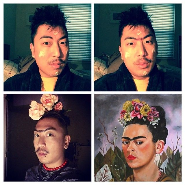 #makeuptransformation Frida Kahlo