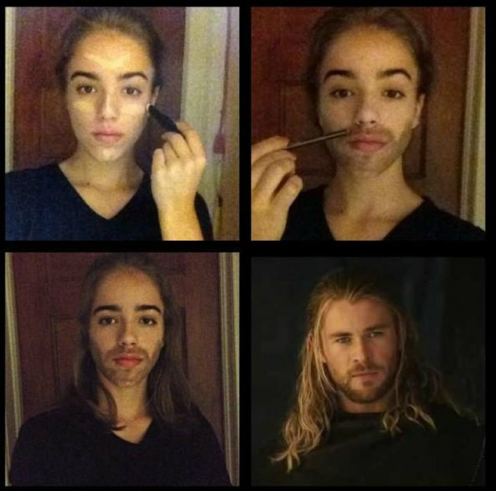 #makeuptransformation Thor