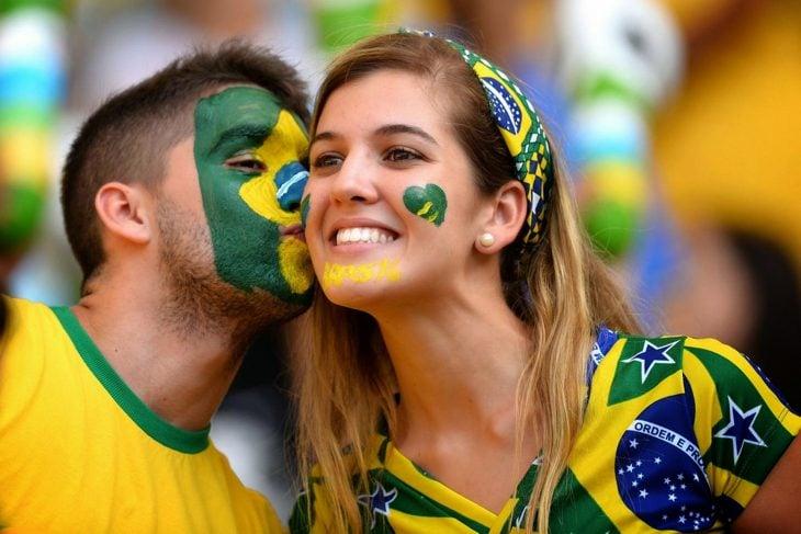 pareja en el mundial de brasil