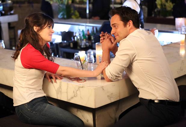 zooey deschanel en la serie new girl en una cita con el protagonista