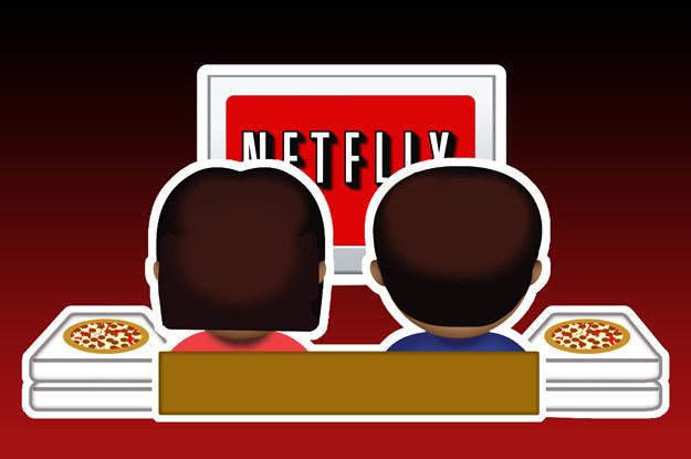 emoji de novios que están viendo netflix