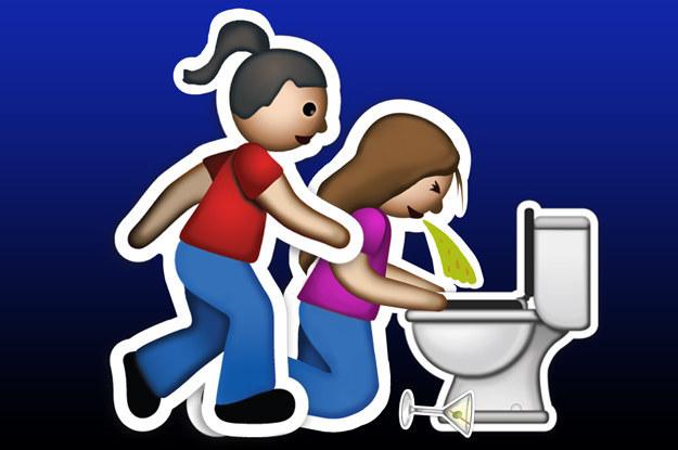 emoji de las amigas yo sostengo tu cabello al vomitar