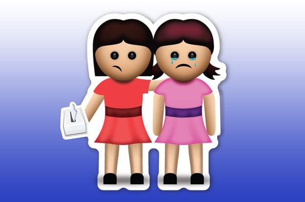 emoji de las amigas que están llorando