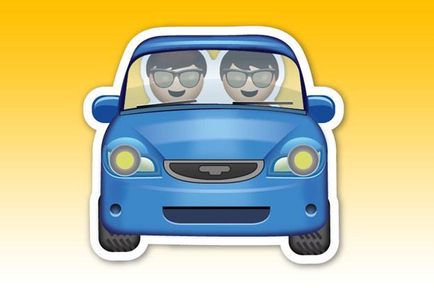 emoji de dos amigos que van en un carro