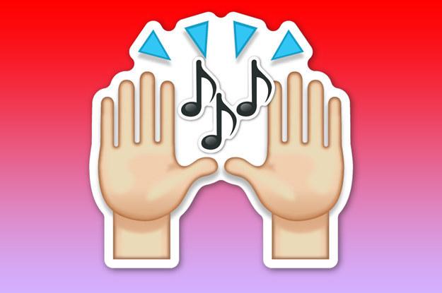 emoji de las manitas que sienten el ritmo de la música