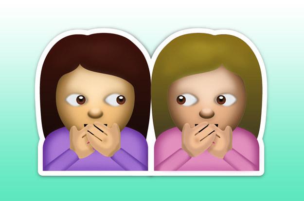 emoji de amigas que se cuentan un secreto
