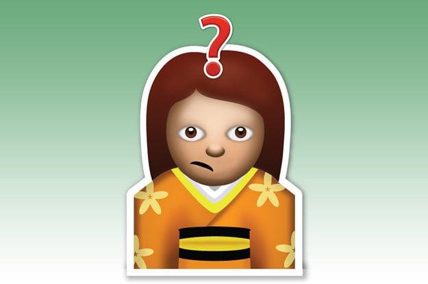 emoji de la muñeca que tiene dudas
