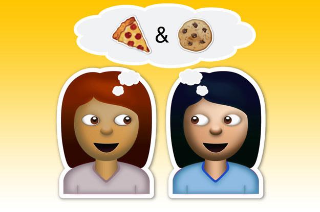 emojis de las amigas que desean comer pizza y galletas